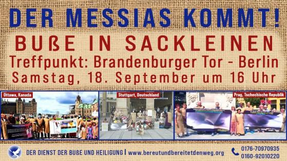 Pressemitteilung - Buße in Sackleinen in Berlin am 18.09.2021