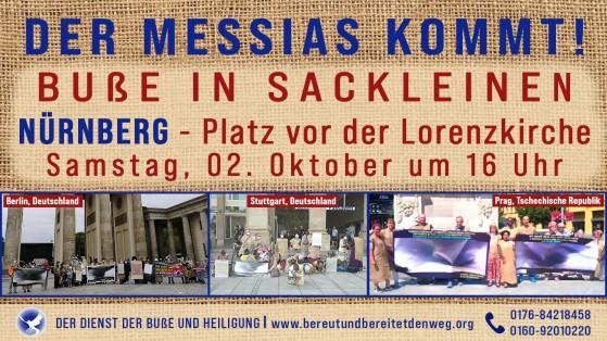 Pressemeldung - Buße und Infoveranstaltung in Nürnberg 2.10-3.10.2021