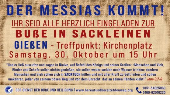 Aktuelle Pressemeldung Buße in Gießen am 30.10.2021